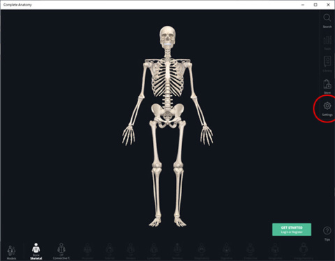 Complete Anatomyからログイン