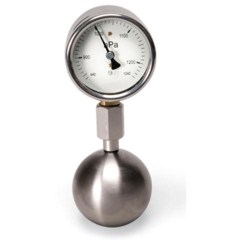 密閉空気の圧力変化測定器