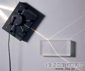 屈折角と反射角の観察