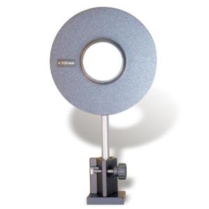 凸レンズ,絞り50mm,焦点距離+100mm