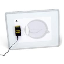レーザー実験用ホワイトボード