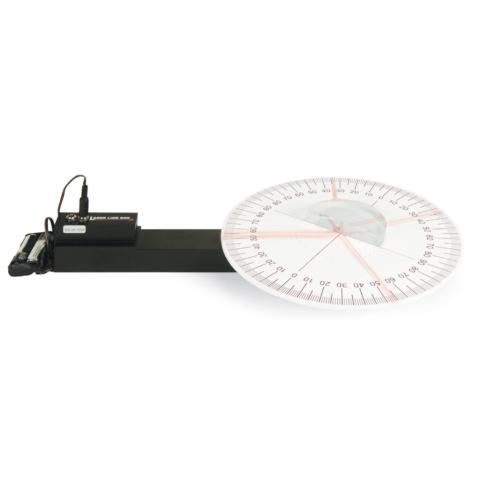 角度計付き光学実験セット,ダイオードレーザー使用