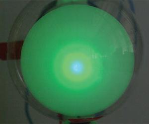 蛍光板状での干渉の観察