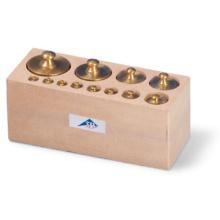 分銅セット・1 g〜500 g,木箱付