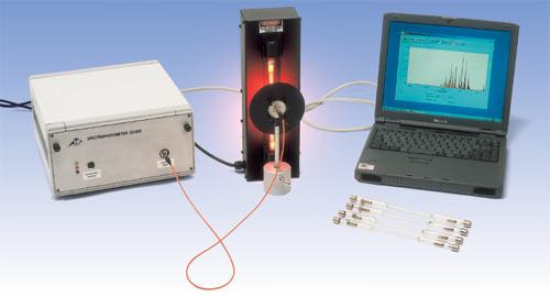 分光光度計を使ったスペクトル測定