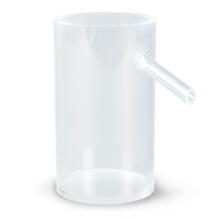 オーバーフロー管付き容器