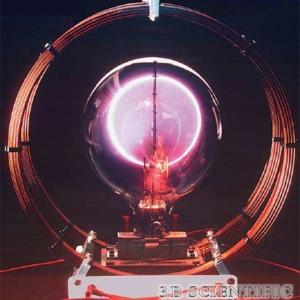 電子管(別売り)を使用した電子の比電荷の実験例
