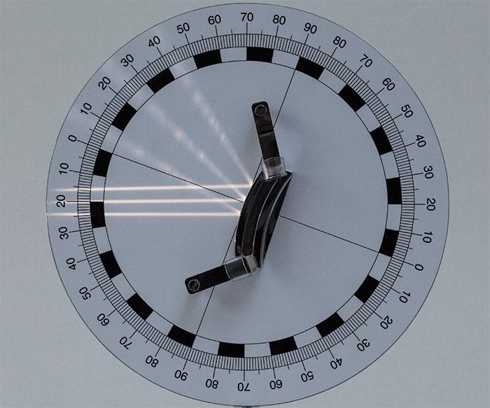 図4:凸面鏡での反射
