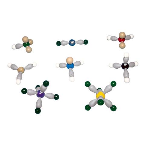 分子形状と電子軌道の模型組立セット