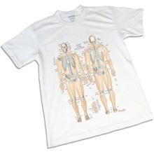 骨格チャートTシャツ,Sサイズ