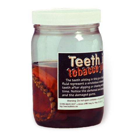 歯の疾患とタバコの害,説明ボトル