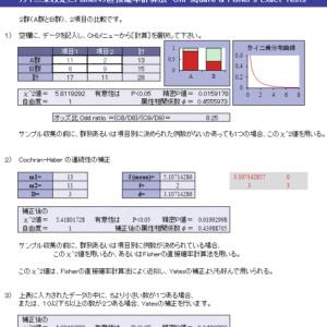 カイ二乗検定とFlasher直接確率計算法